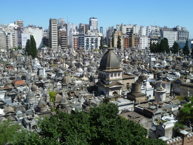 Amazing view of La Recoleta Cementery, one of the most famous cementeries of the world.